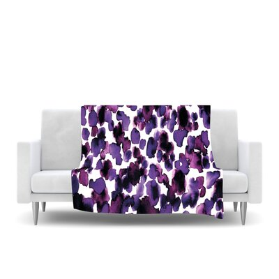 Fleece Throw Blanket Size: 40 L x 30 W, Color: Purple