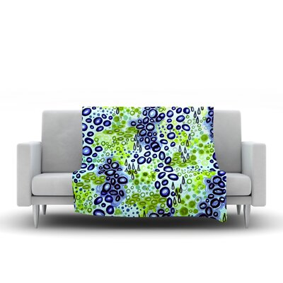 Fleece Throw Blanket Color: Blue Green, Size: 60 L x 50 W