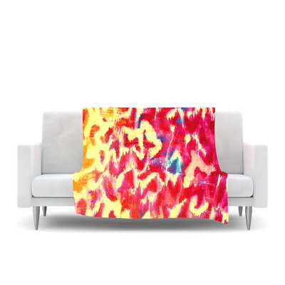 Wild at Heart Fleece Throw Blanket Size: 80 L x 60 W, Color: Pink