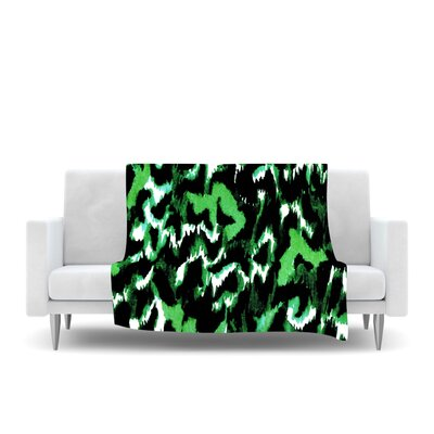 Wild at Heart Fleece Throw Blanket Size: 40 L x 30 W, Color: Green