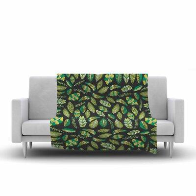 Pom Graphic Design Tropical Botanicals 2 Nature Fleece Blanket PG1110AFB01