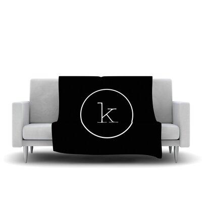 Simple Monogram Fleece Throw