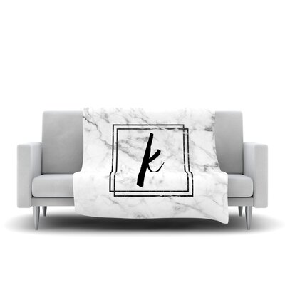 Marble Monogram Fleece Throw