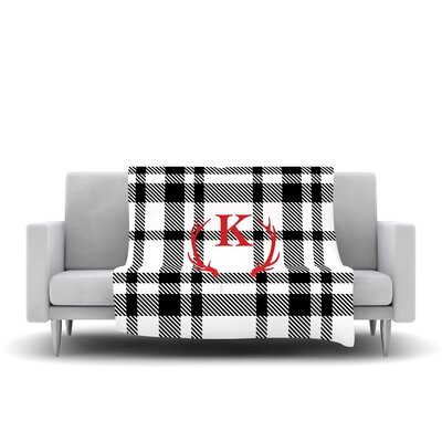 Plaid Monogram Fleece Throw