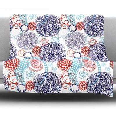Lacy Ying Yang by Anneline Sophia Fleece Blanket Size: 50 W x 60 L