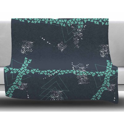 Bold Triangle Geometric by Love Midge Fleece Blanket Size: 60 W x 80 L