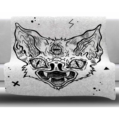 Its Bat by Anya Volk Fleece Blanket Size: 50 W x 60 L