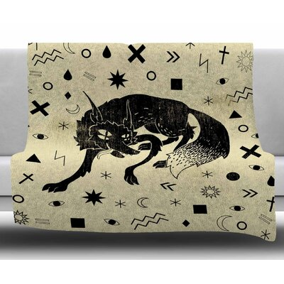 Wolf by Anya Volk Fleece Blanket Size: 50 W x 60 L