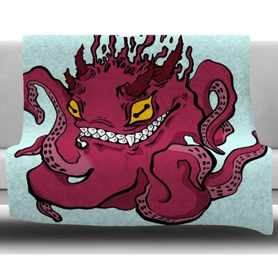 Underwater by Anya Volk Fleece Blanket Size: 50 W x 60 L