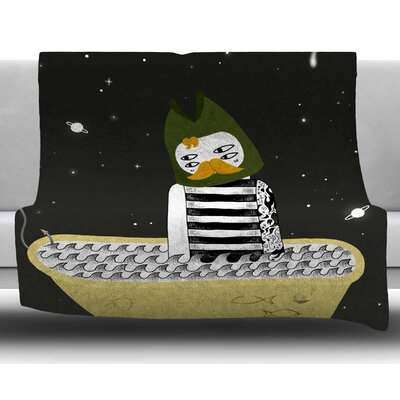 Fisherman by Anya Volk Fleece Blanket Size: 60 W x 80 L