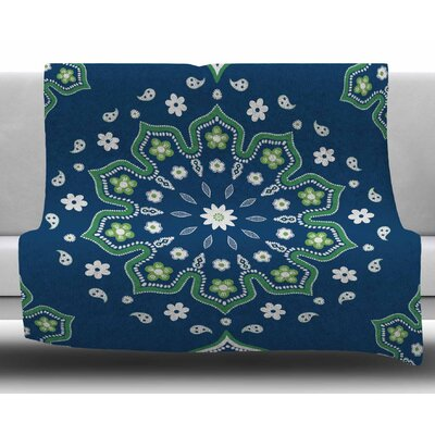 Mandala Design Cristina Bianco Design Fleece Blanket Size: 50 W x 60 L