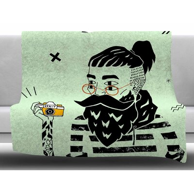 Dreamer 3 by Anya Volk Fleece Blanket Size: 60 W x 80 L