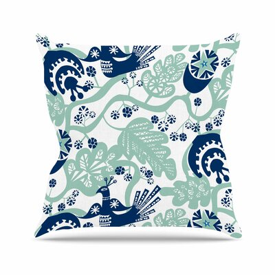 Folk Birds Agnes Schugardt Throw Pillow Size: 18 H x 18 W x 4 D