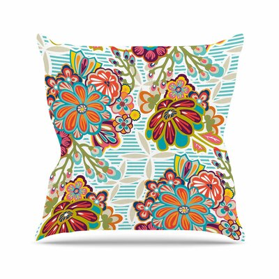 Kimono Floral Agnes Schugardt Throw Pillow Size: 16 H x 16 W x 4 D