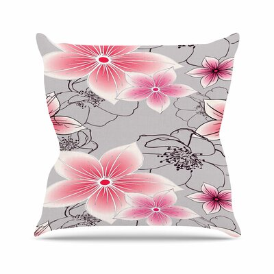 Floral Alison Coxon Throw Pillow Size: 18 H x 18 W x 4 D