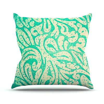 Spring Paisley Outdoor Throw Pillow