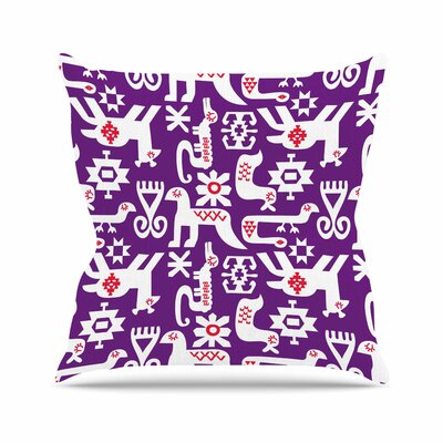 The Tribe Agnes Schugardt Throw Pillow Size: 16 H x 16 W x 4 D