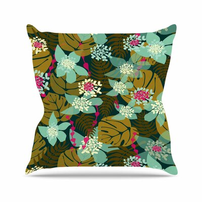 Amy Reber Floral Throw Pillow Size: 16 H x 16 W x 4 D