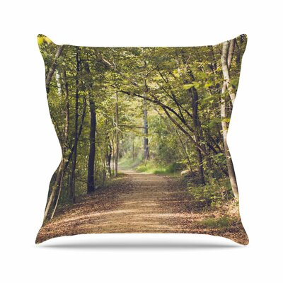 Forest Light Ann Barnes Photography Trees Throw Pillow Size: 16 H x 16 W x 4 D