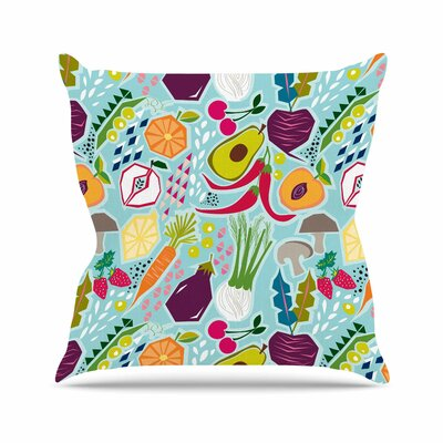Garden Song Agnes Schugardt Throw Pillow Size: 18 H x 18 W x 4 D