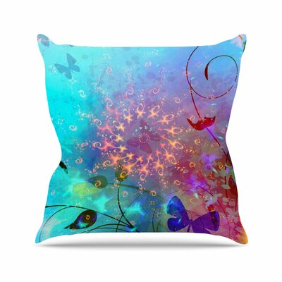 Illusion AlyZen Moonshadow Throw Pillow Size: 20 H x 20 W x 4 D