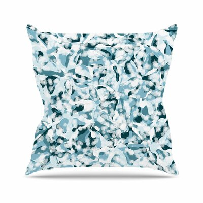 Water Flowers Angelo Cerantola Throw Pillow Size: 16 H x 16 W x 4 D