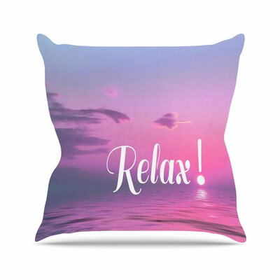 Relax Alison Coxon Throw Pillow Size: 18 H x 18 W x 4 D