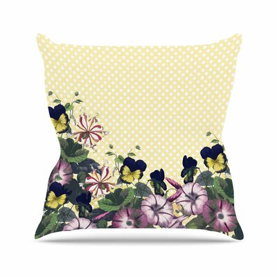 Polka Dot Alison Coxon Throw Pillow Size: 18 H x 18 W x 4 D