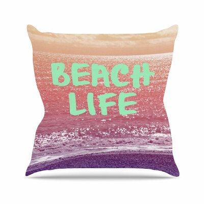 Beach Life Alison Coxon Throw Pillow Size: 26 H x 26 W x 4 D