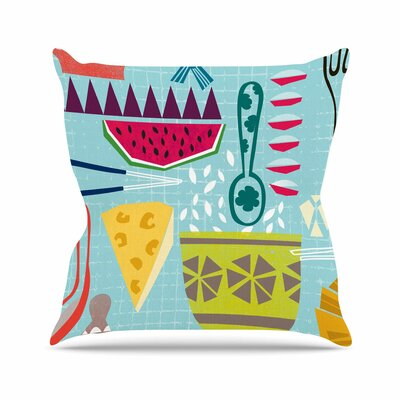 Dinner out Agnes Schugardt Throw Pillow Size: 26 H x 26 W x 4 D