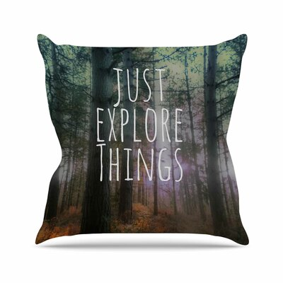 Just Explore Things Alison Coxon Throw Pillow Size: 26 H x 26 W x 4 D