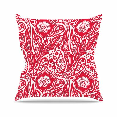 Paisley Agnes Schugardt Throw Pillow Size: 16 H x 16 W x 4 D