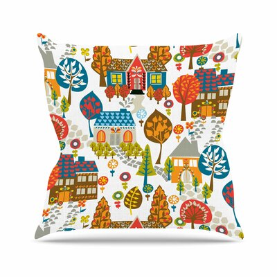 In the Village Agnes Schugardt Throw Pillow Size: 16 H x 16 W x 4 D
