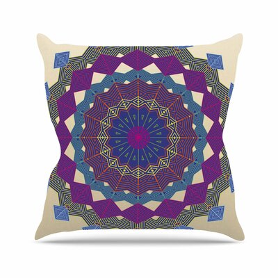 Composition Angelo Carantola Throw Pillow Size: 18 H x 18 W x 4 D, Color: Purple