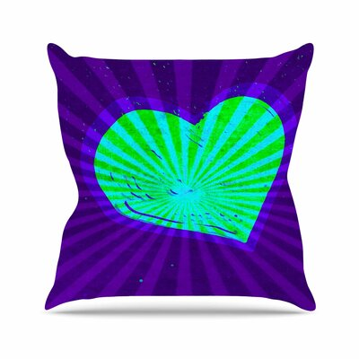 Love Beams Anne LaBrie Throw Pillow Size: 18 H x 18 W x 4 D