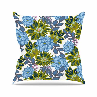 Dahlias Amy Reber Throw Pillow Size: 18 H x 18 W x 4 D