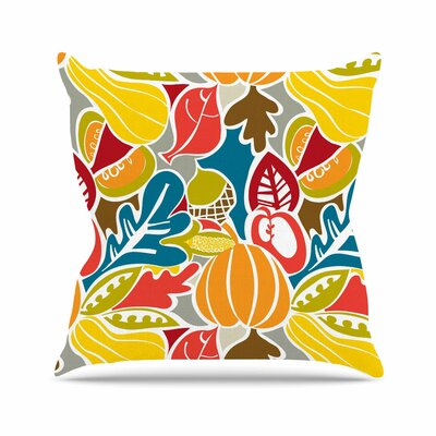 Fall Harvest Agnes Schugardt Throw Pillow Size: 26 H x 26 W x 4 D