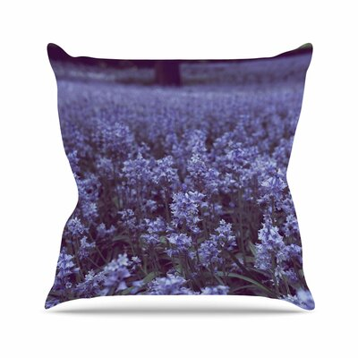 Bluebell Forest Ann Barnes Flowers Throw Pillow Size: 26 H x 26 W x 4 D