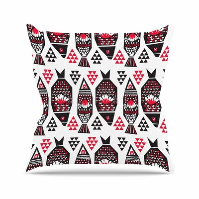 Folk Fish Agnes Schugardt Throw Pillow Size: 18 H x 18 W x 4 D