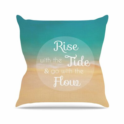 Rise with the Tide Alison Coxon Throw Pillow Size: 16 H x 16 W x 4 D
