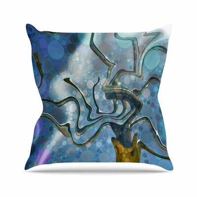 Wonky AlyZen Moonshadow Throw Pillow Size: 16 H x 16 W x 4 D