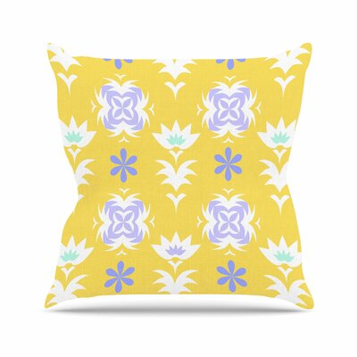 Edwardian Tile Alison Coxon Throw Pillow Size: 20 H x 20 W x 4 D, Color: Yellow