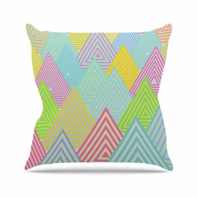 Pastel Mountains Angelo Carantola Throw Pillow Size: 16 H x 16 W x 4 D
