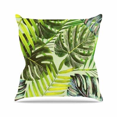 Jungle Rust Alison Coxon Throw Pillow Color: Green, Size: 26 H x 26 W x 4 D