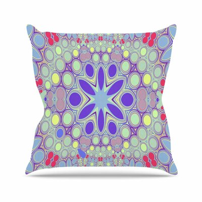Hippy Flowers Alison Coxon Kaleidoscope Throw Pillow Size: 26 H x 26 W x 4 D