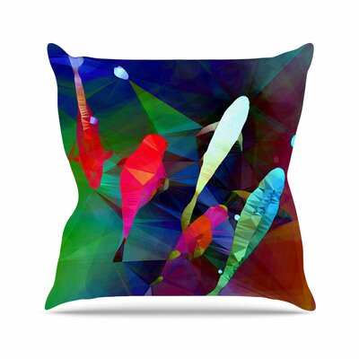 Fish 2 AlyZen Moonshadow Throw Pillow Size: 26 H x 26 W x 4 D