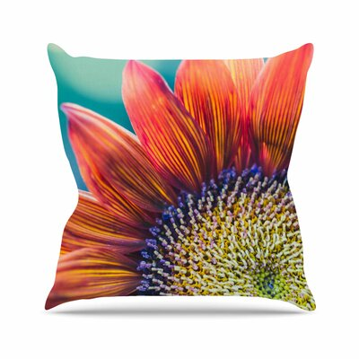 Fire & Ice Ann Barnes Flower Throw Pillow Size: 16 H x 16 W x 4 D