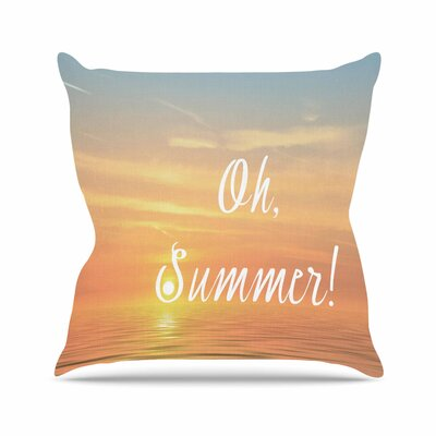 Oh, Summer! Alison Coxon Throw Pillow Size: 26 H x 26 W x 4 D
