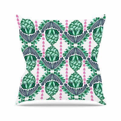 Tassels Amy Reber Line Illustration Throw Pillow Size: 16 H x 16 W x 4 D