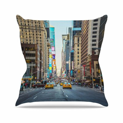 Sunset over 7th Ann Barnes Urban Photography Throw Pillow Size: 20 H x 20 W x 4 D